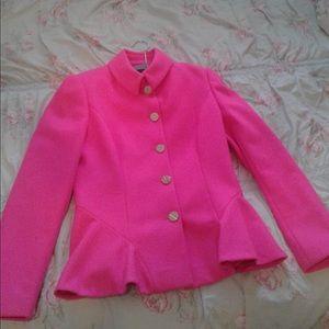 Ted Baker hot pink women's pea coat!